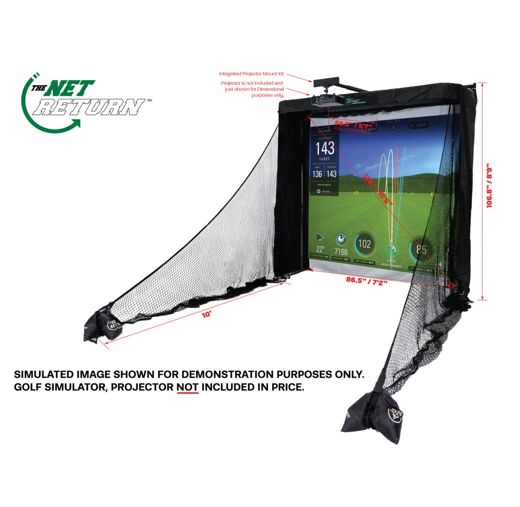 Simulator Series Golf Net (2,43m - 8')