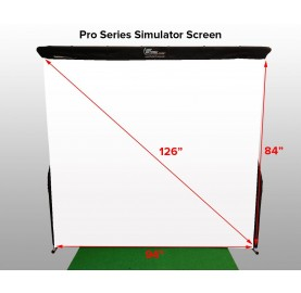 Projection screen for simulator