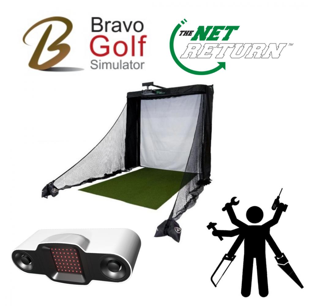 Installation Bravo BV21 Net Return Simulator Series Golf Net